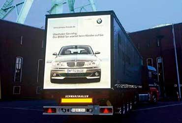 Mobile Werbung auf LKW